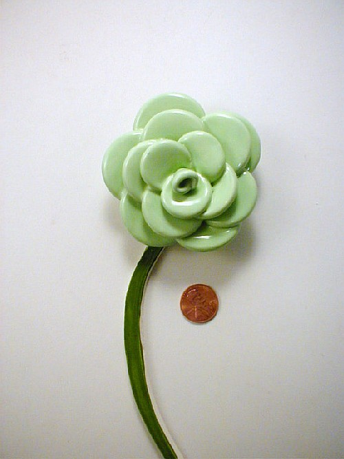 1 Mint Green Rose With Stem