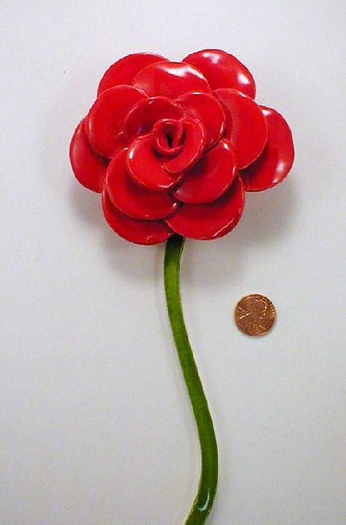 1 Red Rose With Stem