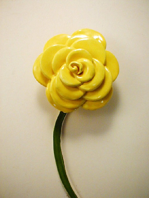 1 Yellow Rose With Stem