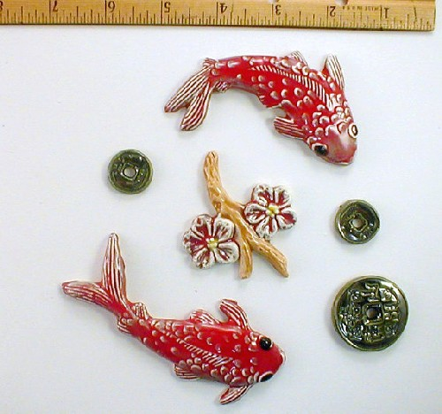 Red with a splash of white Koi Fish
