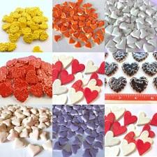 Assorted Ceramic Hearts