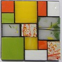 Small stained glass coasters with design number 6