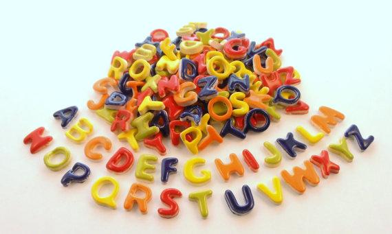 2 full sets of alphabet tiles, 52 letters