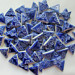 75 Cobalt Blue triangle tiles