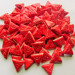 75 Neon Red triangle tiles