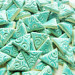75 Turquoise triangle tiles