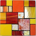 Large stained glass coasters with design number 6