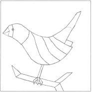 Mosaic Bird pattern number 1