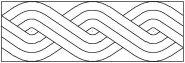 Mosaic border pattern number 1