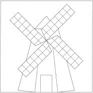 Mosaic Windmill pattern number 1