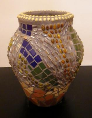 Abstract Mosaic Vase