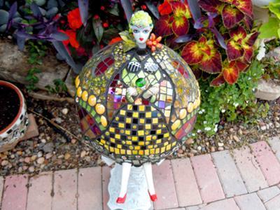 Bell of the Ball garden gazing ball