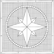 Eight Point Compass Rose pattern number 1