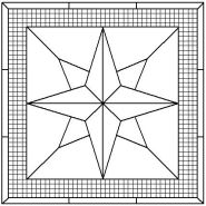 Eight Point Compass Rose pattern number 2