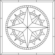 Sixteen Point Compass Rose pattern number 3