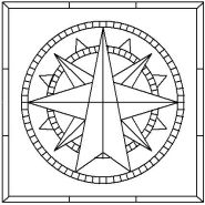 Sixteen Point Compass Rose pattern number 4