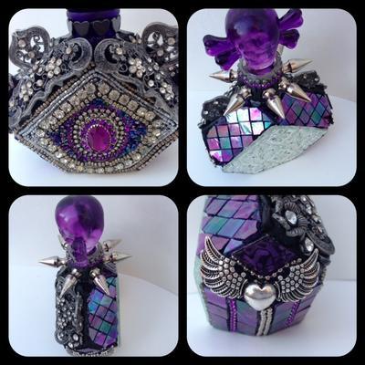Embellished Glass Bottle