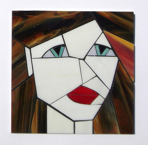 Bella from the Girls series stained glass coasters