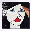 Blackie from the Girls series stained glass coasters