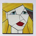 Blondie from The Girls series stained glass coasters