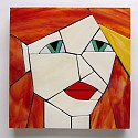 Victoria from The Girls series stained glass coasters