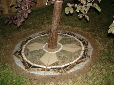 Granite Mosaic Under Tree