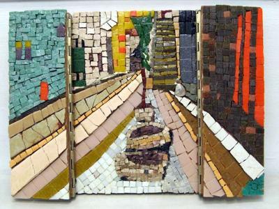 Jerusalem Triptych Jaffa Gate, open
