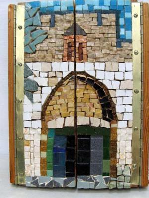 Jerusalem Triptych Jaffa Gate, closed