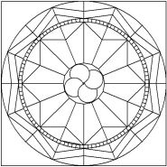 Pattern for Mosaic Medallion 3