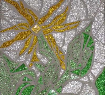 Yellow Mosaic Flower