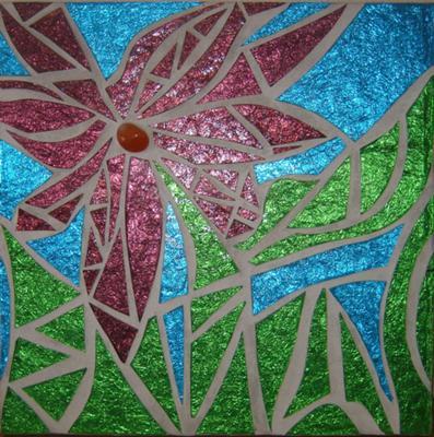 Purple Mosaic Flower