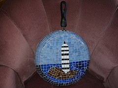 Mosaic Lighthouse Frying Pan