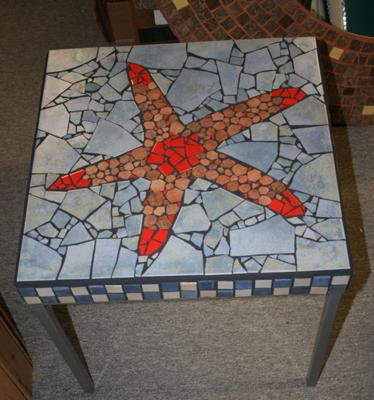 Mosaic Starfish Table from Daniel Boivin