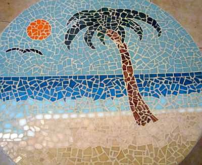 Mosaic Palm Tree Beach