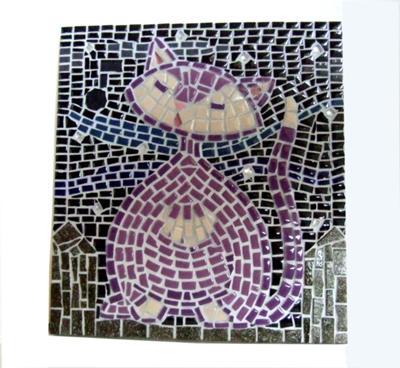 Purple Mosaic Kitty