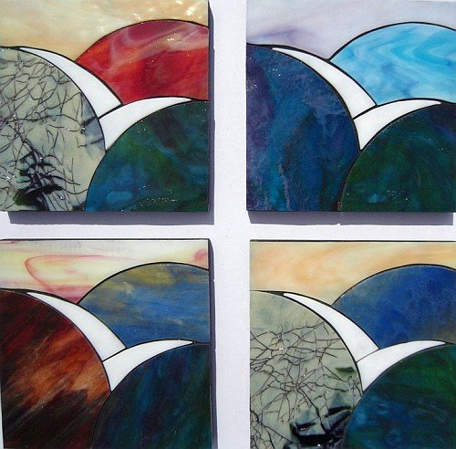 Representation of Peace design stained glass coasters