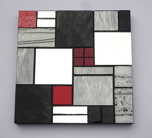 Abstract design number 6 stained glass coasters