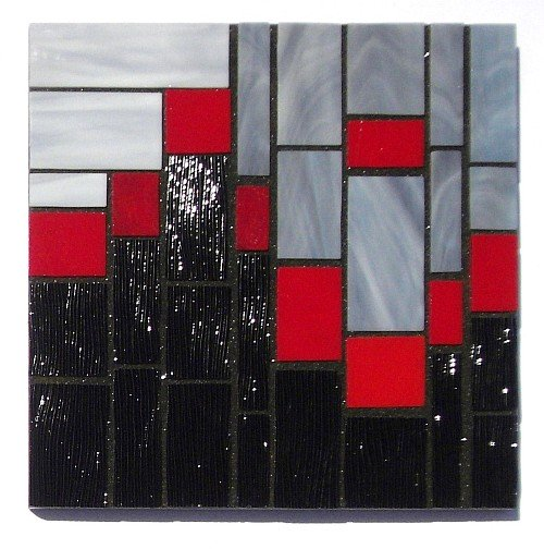 Abstract design number 8 stained glass coasters