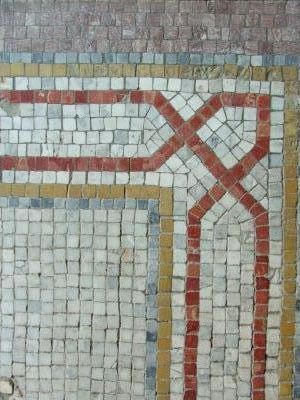 Part of a floor mosaic done using the Indirect Method