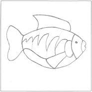 Mosaic Fish pattern number 2