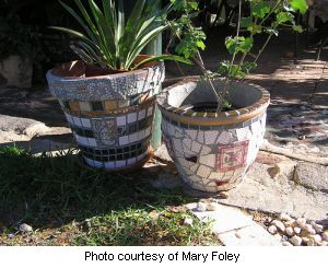 Mary's Mosaic flower pots