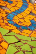 Mixed colored tiles