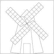 Mosaic Windmill pattern number 1