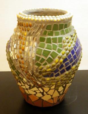 Abstract Mosaic Vase