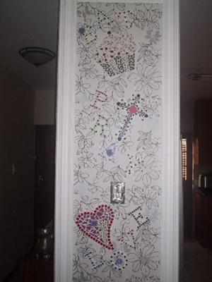 Eat,Pray,Love-A mosaic piece on my wall