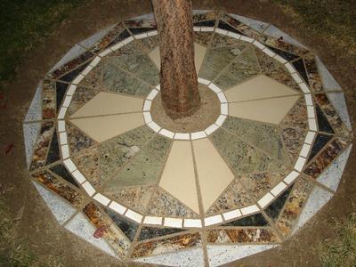 Granite Mosaic Under Tree