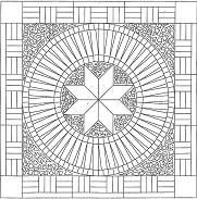 Pattern for Mosaic Medallion 2