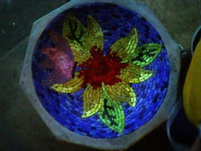 Mosaic Butterfly Bath