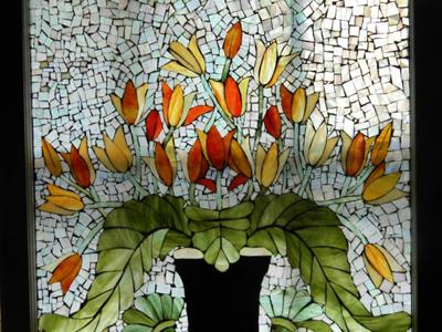 Mosaic stained glass Tulips